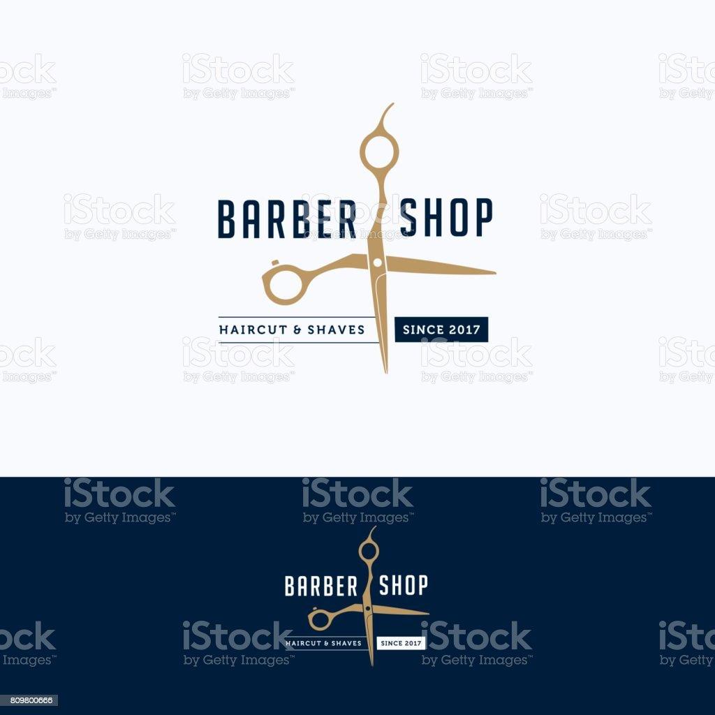 Logotipo de barbearia - ilustração de arte em vetor