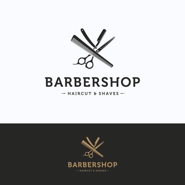 Berber logosu vektör sanat illüstrasyonu