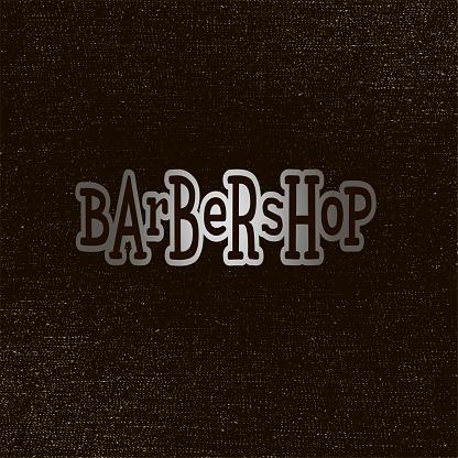 Barbershop metallic lettering