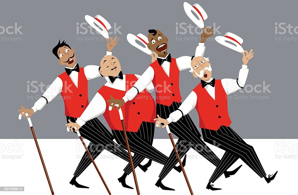 Barbershop Quartet vector art illustration