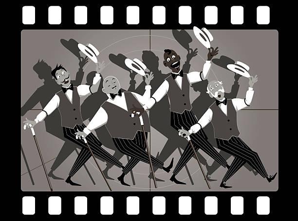stockillustraties, clipart, cartoons en iconen met barbershop quartet - tenor