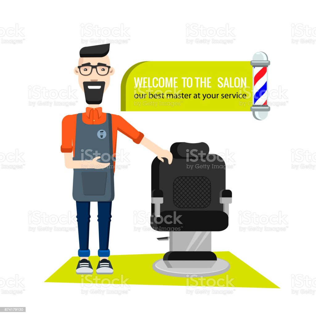 Barbershop1 - ilustração de arte em vetor