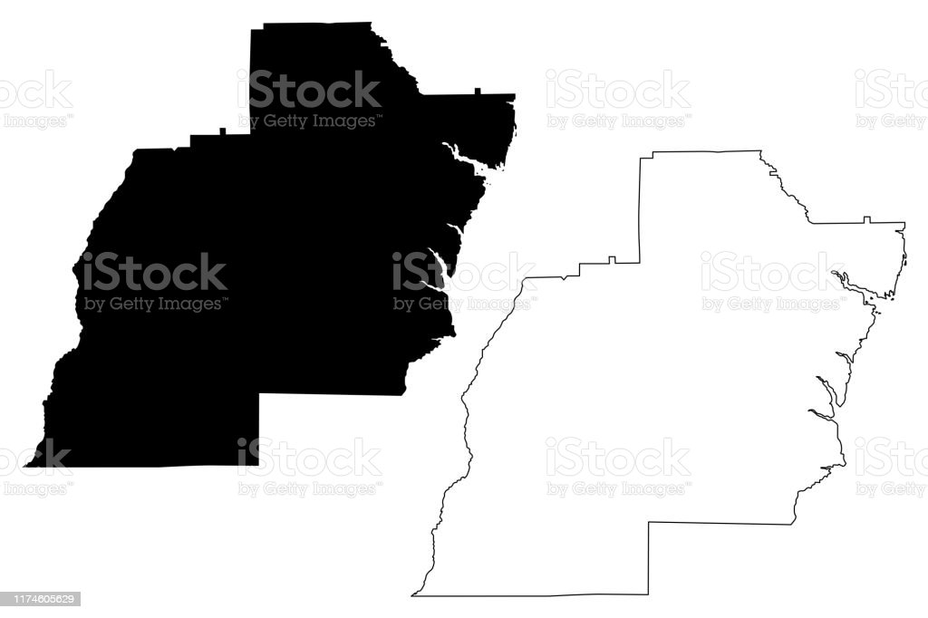 Barbour County Alabama Map Vector Illustration Scribble ...