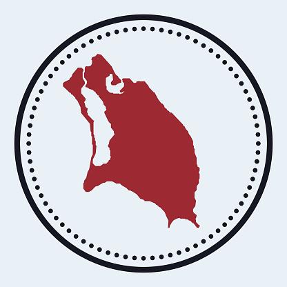 Barbuda round stamp.