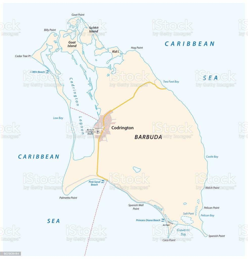 Barbuda vector map