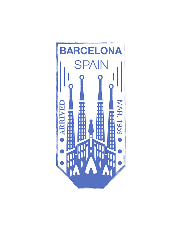 Barcelona Arrival Ink Stamp On Passport Stock Illustration - Download Image Now