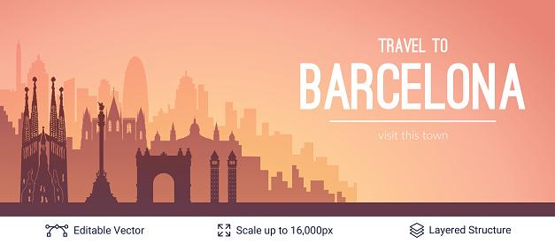 Barcelona famous city scape.