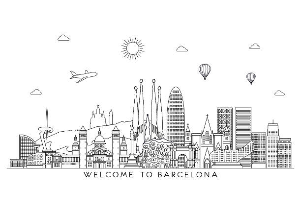 Royalty Free Barcelona Spain Clip Art Vector Images