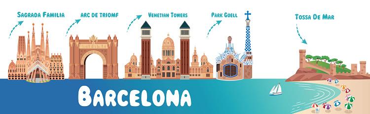 Barcelona Symbols And Tossa de Mar