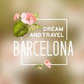 Barcelona travel print