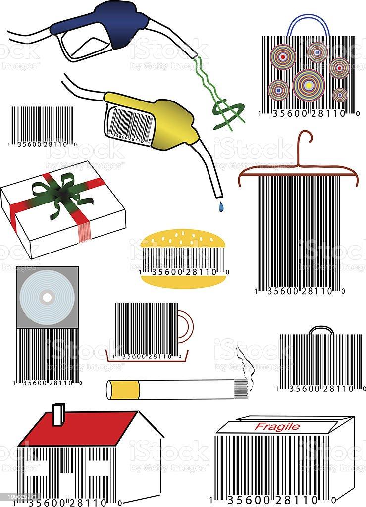Barcode concept (eps) royalty-free stock vector art