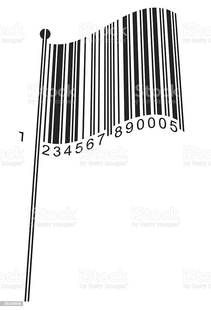 Barcode Flag royalty-free barcode flag stock vector art & more images of abstract