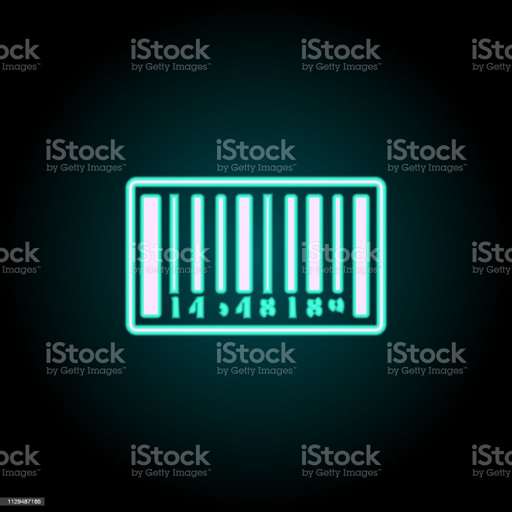 Barcode Icon Elements Of Logistics In Neon Style Icons Simple Icon