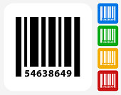 Barcode Icon Flat Graphic Design