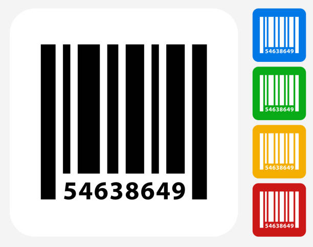 Barcode Icon Flat Graphic Design vector art illustration