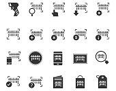 Barcode icon set , vector illustration