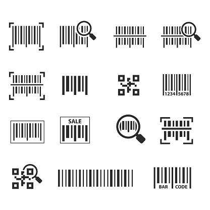 Barcode icon set