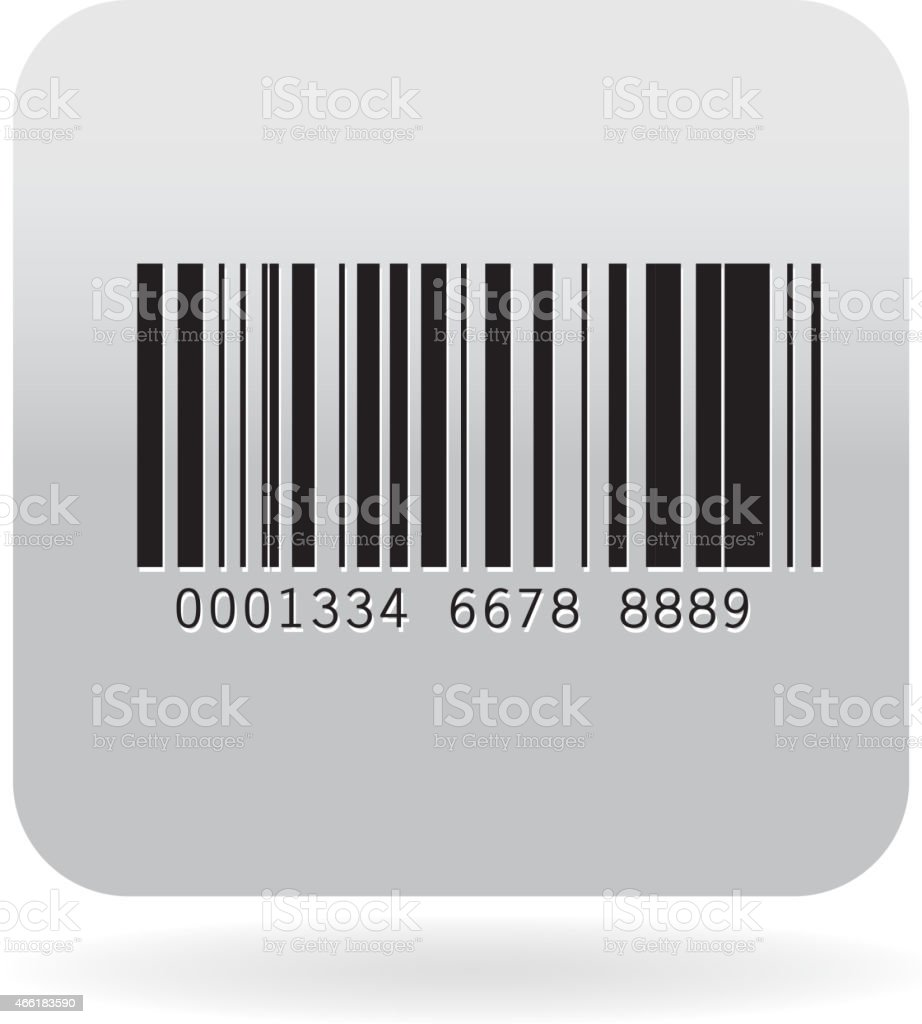 Barcode icon vector art illustration