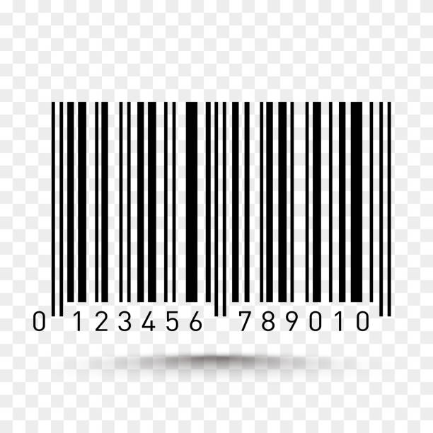 Barcode isolated on transparent background. Vector icon vector art illustration