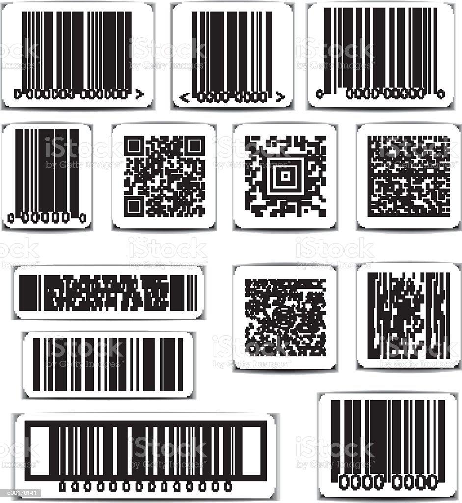Barcode Label Set Vektor Stock Vektor Art und mehr Bilder von ...