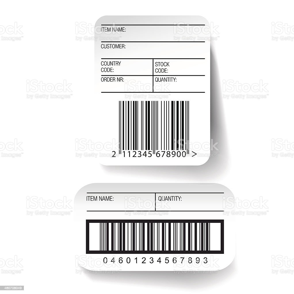 Barcode label template vector vector art illustration