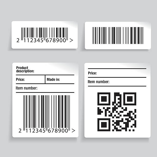 Barcode label vector set vector art illustration