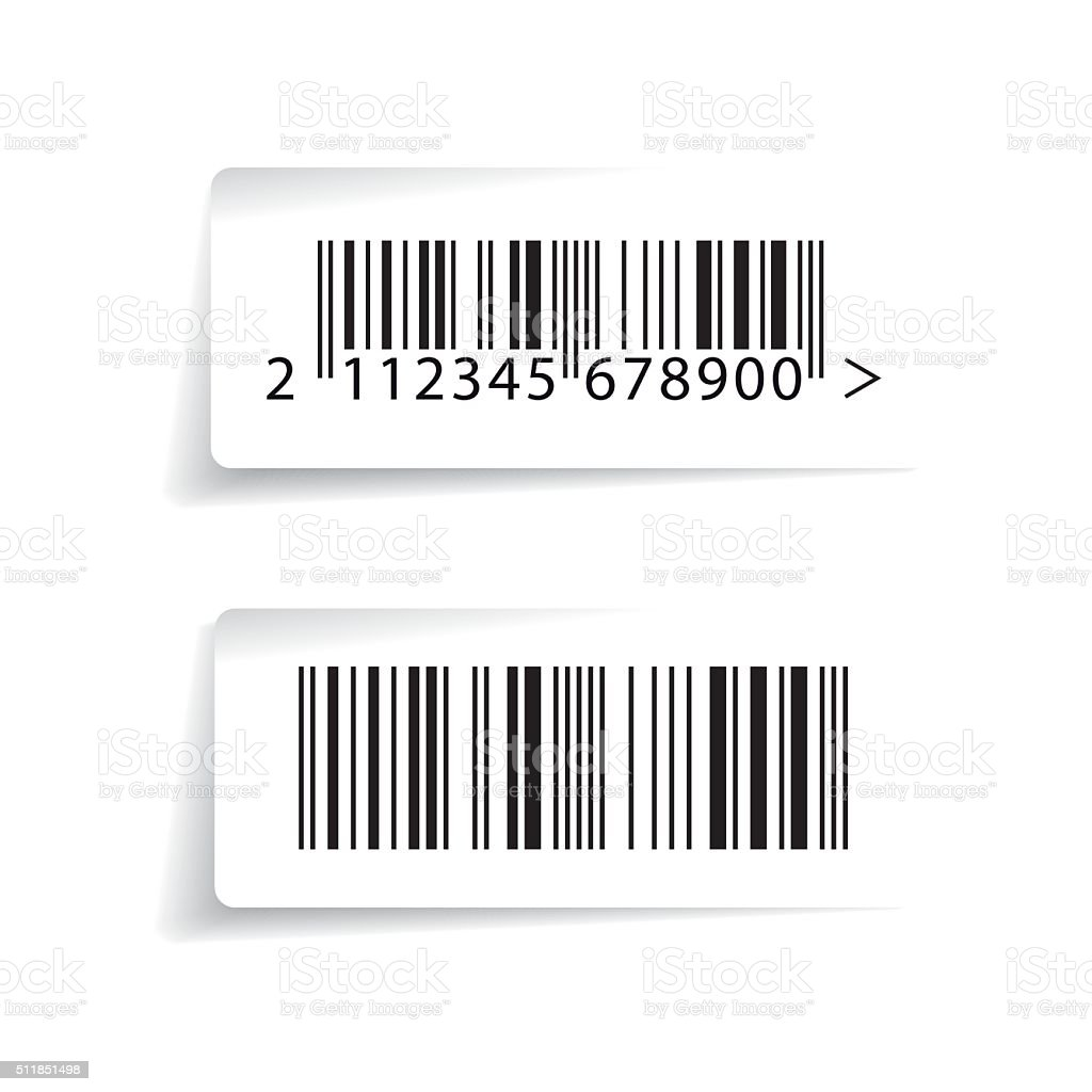 Barcode label vector vector art illustration