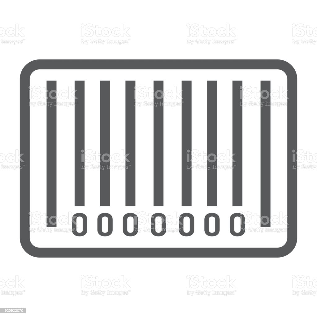barcode line icon e commerce and marketing scan sign vector graphics