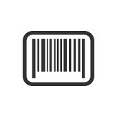 Barcode product distribution icon. Vector illustration. Business concept barcode pictogram.