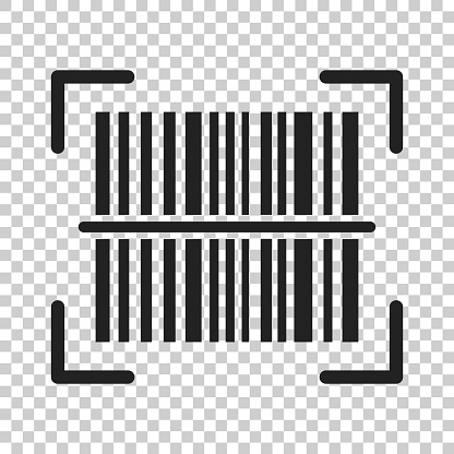 Barcode product distribution icon. Vector illustration on isolated transparent background. Business concept barcode pictogram.