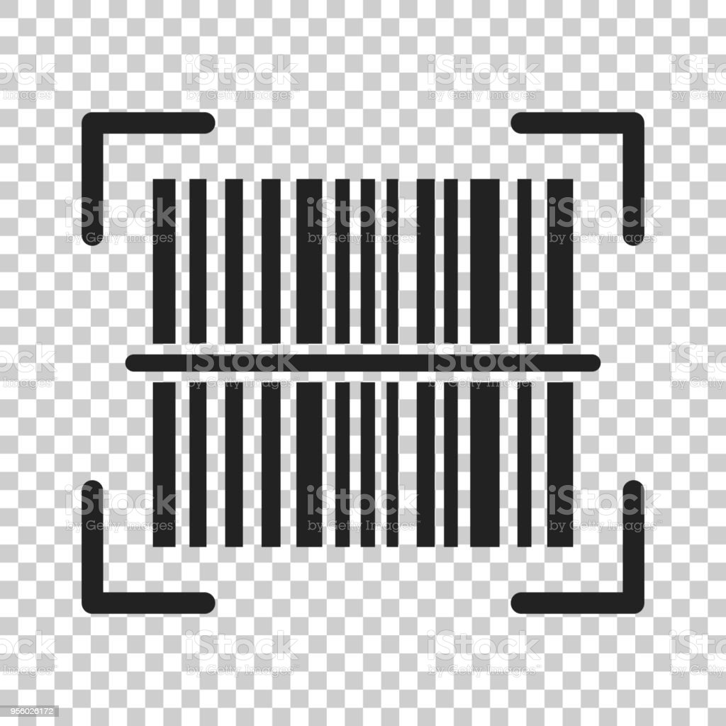 Barcode product distribution icon. Vector illustration on isolated transparent background. Business concept barcode pictogram. vector art illustration