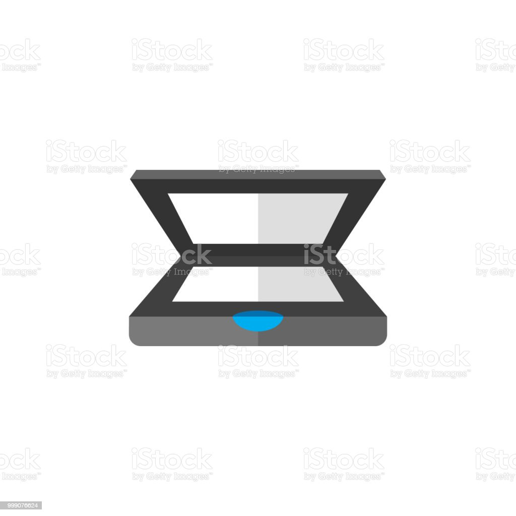 Barcode Reader Icon In Flat Color Style Royalty Free
