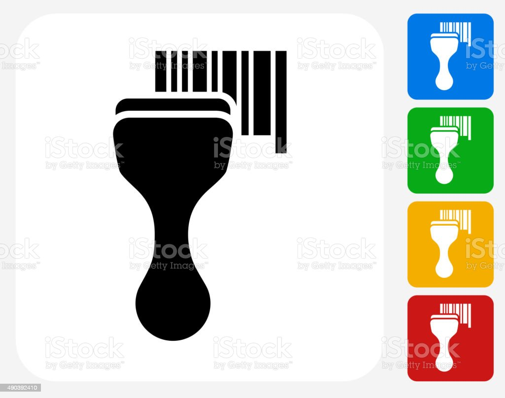 Barcode Scanner Icon Flat Graphic Design vector art illustration