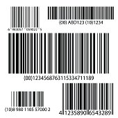 BarCode Set Vector. Universal Product Scan Code.