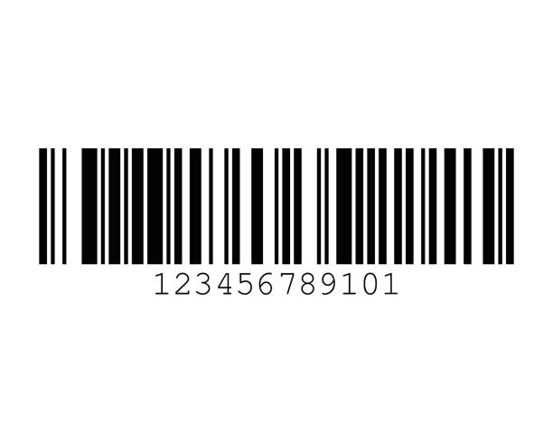 GSI-128 UCC EAN-128 128B Barcode Standards vector art illustration