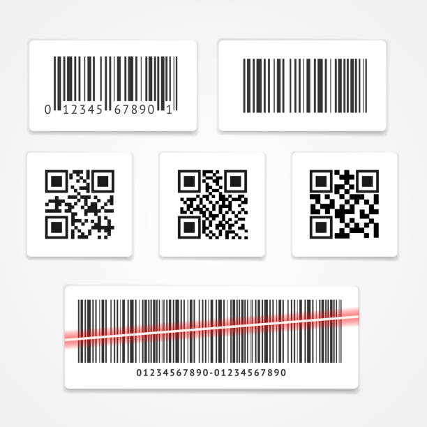 Barcode Tag or Sticker Set. Vector vector art illustration