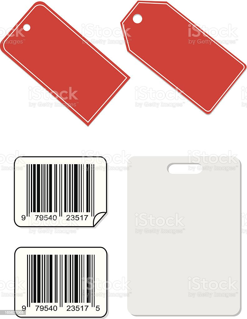 Barcode Tags and ID royalty-free stock vector art