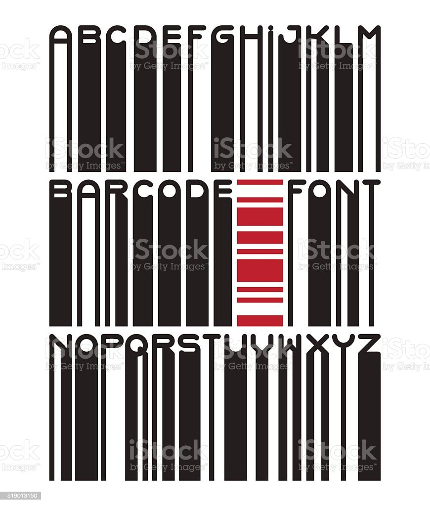 Barcode Typeface Font Stock Illustration - Download Image Now - iStock