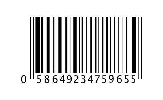 Barcode vector icon. In flat style