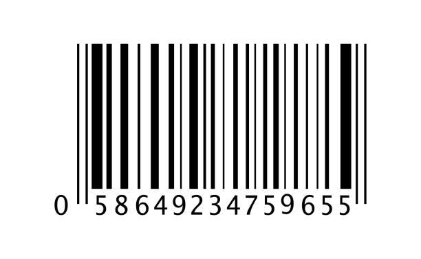 barcode vector icon. in flat style - kod kreskowy stock illustrations