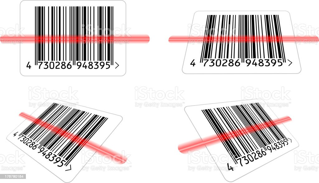 bar-code royalty-free stock vector art