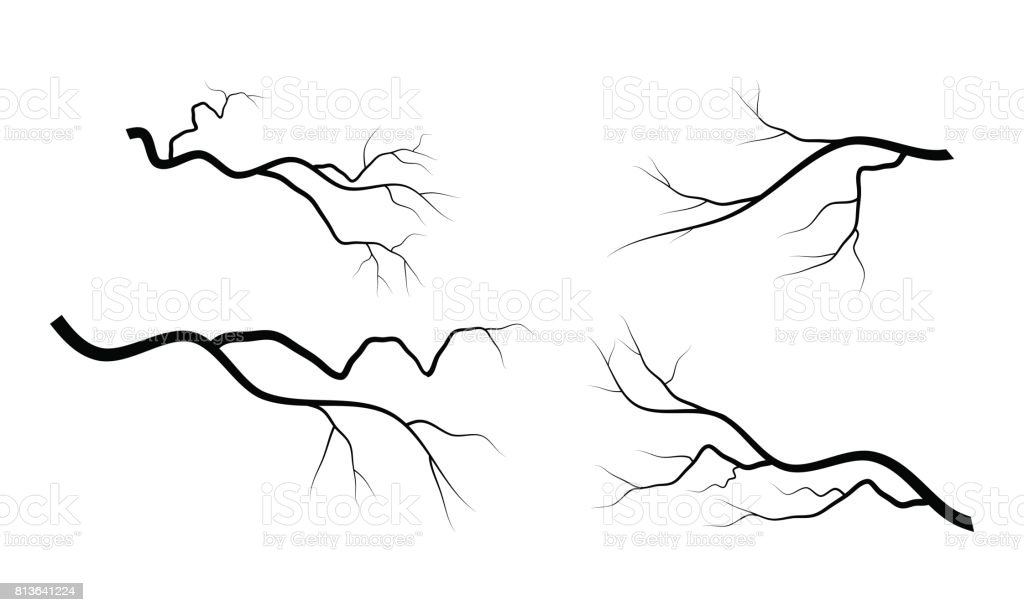 bare branch set vector symbol icon design. vector art illustration