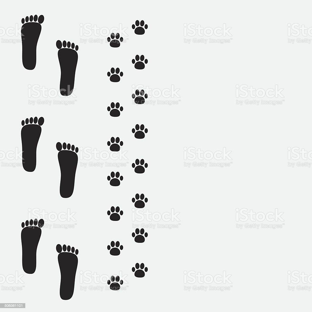 royalty free paw print border clip art vector images rh istockphoto com tiger paw print border clip art paw print page border clipart