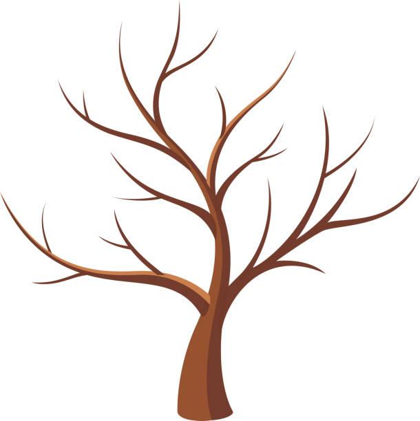 bare tree vector art illustration - Arbre Sans Feuille
