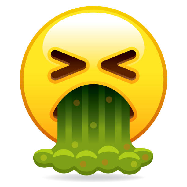 Barfing icône Emoji - Illustration vectorielle