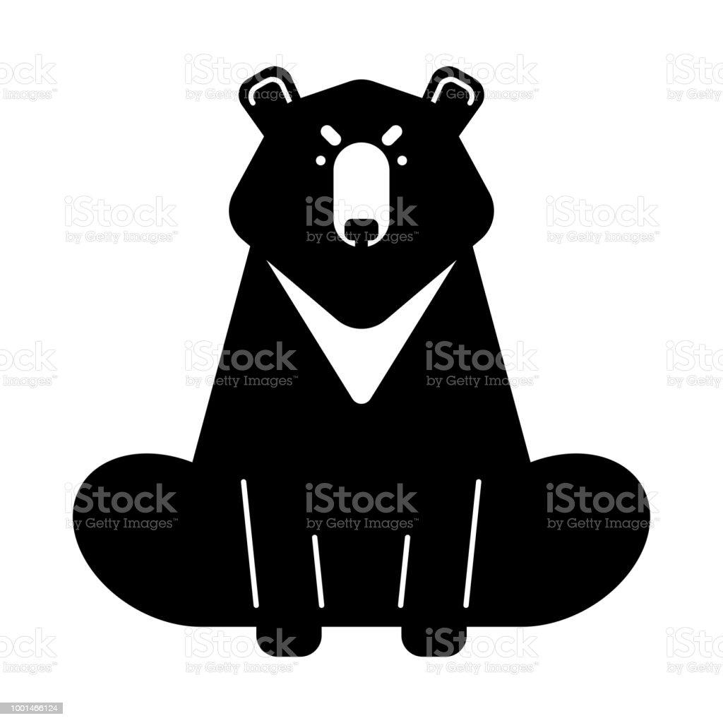 Baribal american bear aislado depredador salvaje de estados unidos ilustración de vector ilustración de