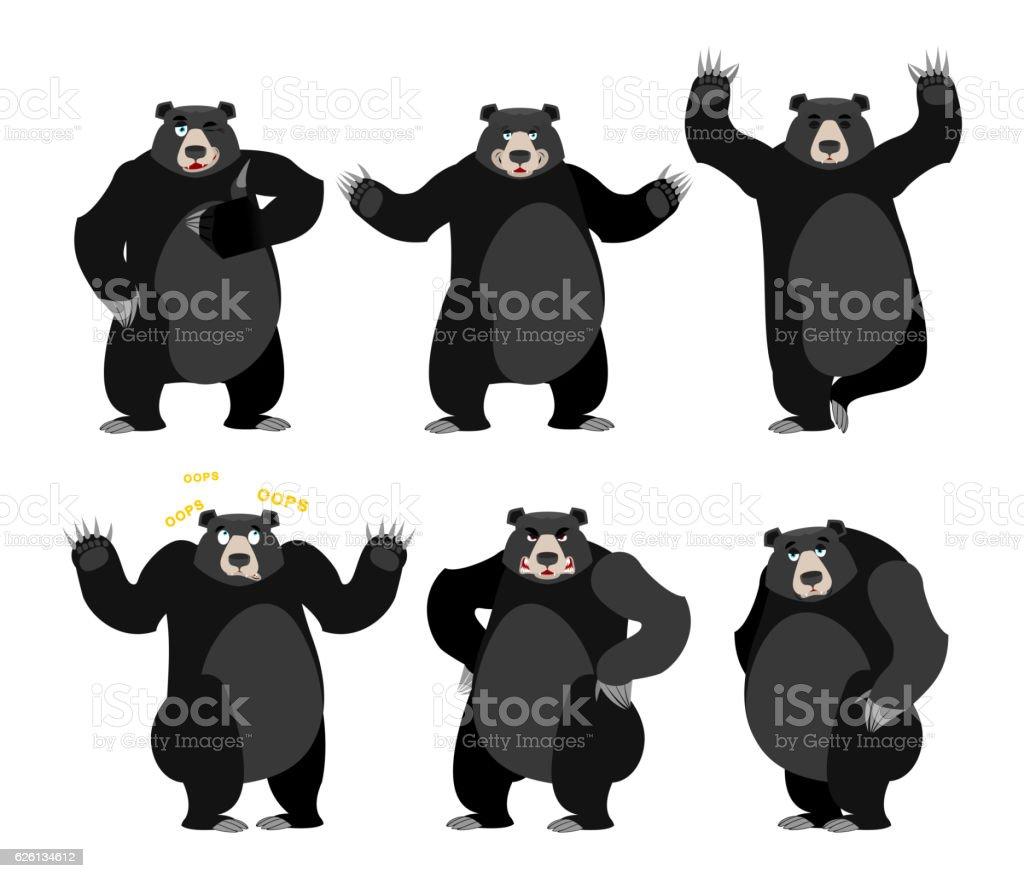 royalty free american black bear clip art vector images rh istockphoto com black bear clip art black and white black bear clip art images