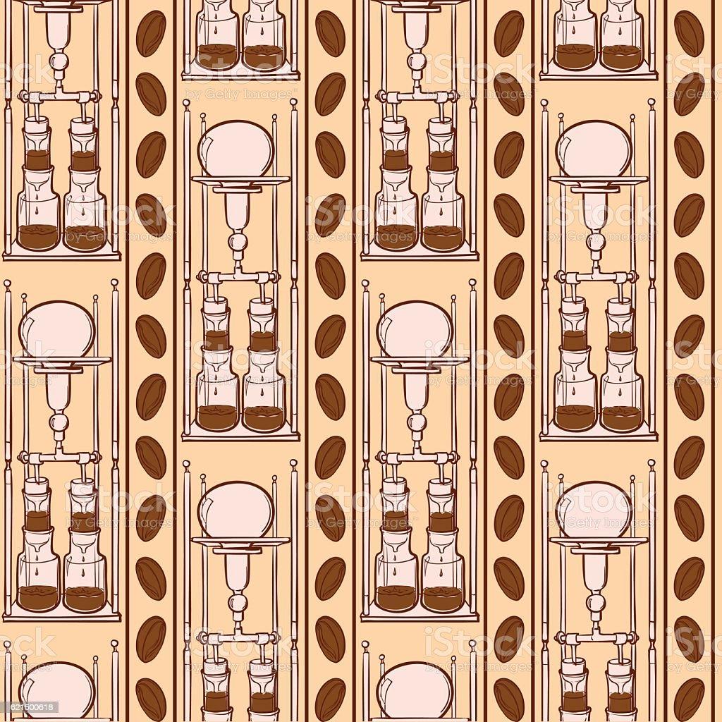 Barista coffee tools. Sketch style. Doodles. Pattern. barista coffee tools sketch style doodles pattern - immagini vettoriali stock e altre immagini di attrezzatura royalty-free