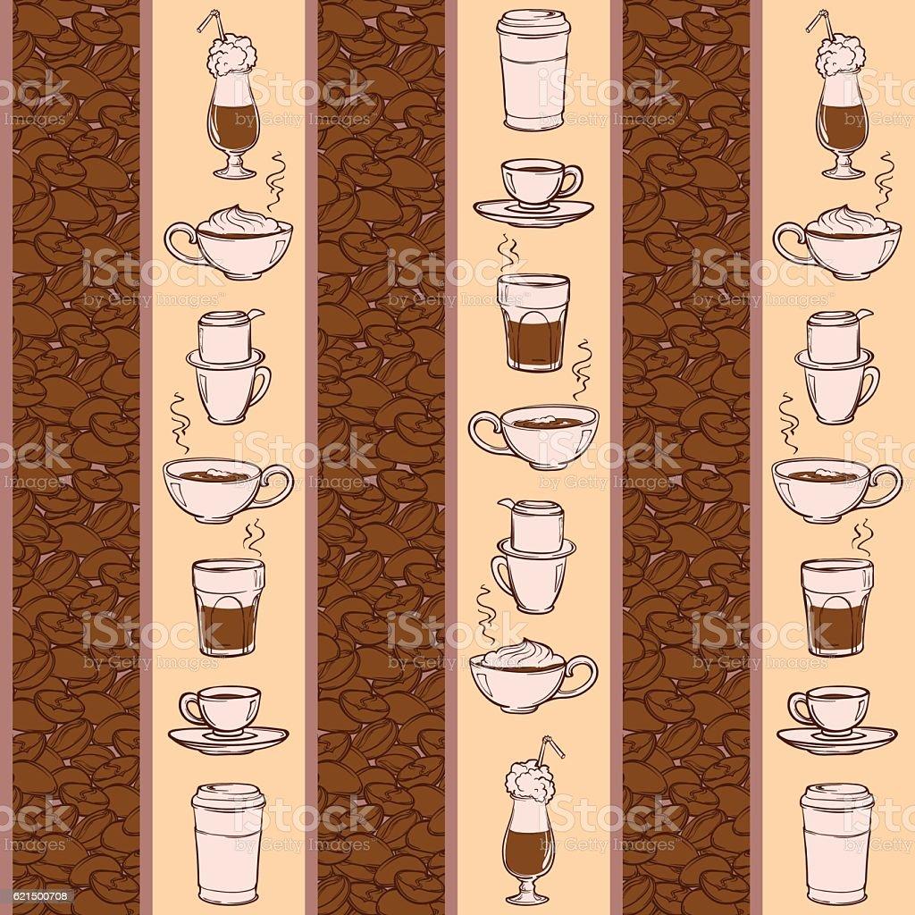 Barista coffee tools. Sketch style. Doodles. Pattern. barista coffee tools sketch style doodles pattern - immagini vettoriali stock e altre immagini di bibita royalty-free
