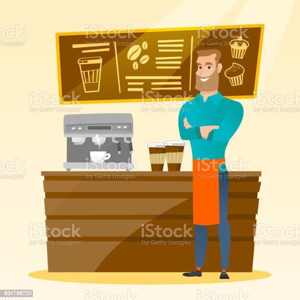 Barista standing near coffee machine vector id834788220?b=1&k=6&m=834788220&s=612x612&h=fzeqhhd ms1xqpf0nllwycj6nleetn6sx wpyek6txq=